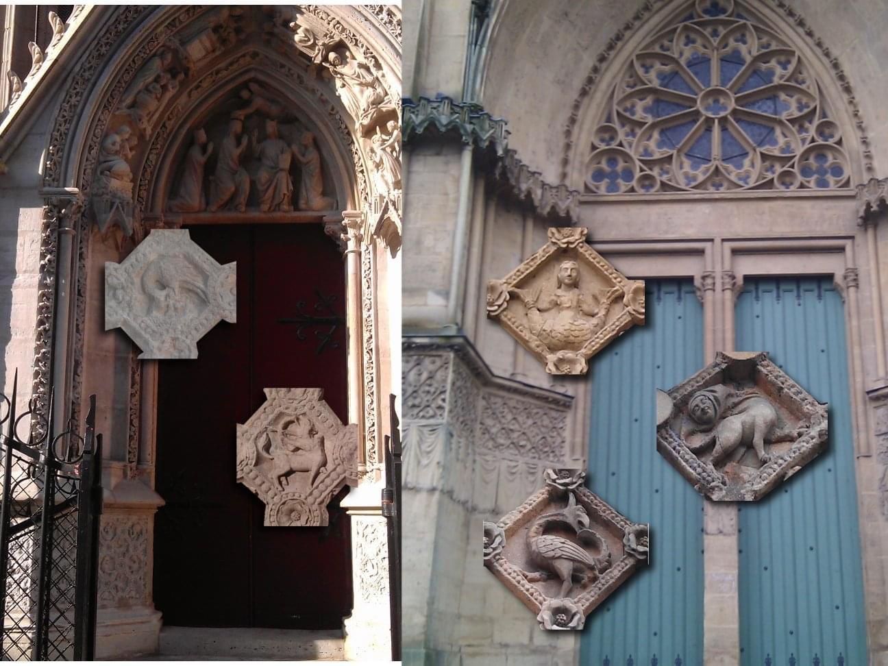 Bestiaires De La Porte Rouge De Notre Dame De Paris Et Du Portail